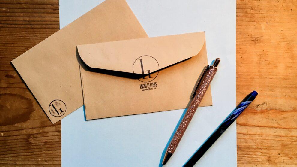 Handwritten letter from the desk of Lucid Letters